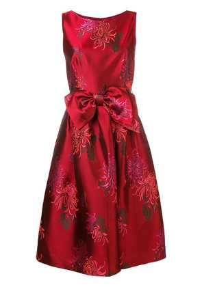 P.A.R.O.S.H. floral midi party dress - Red