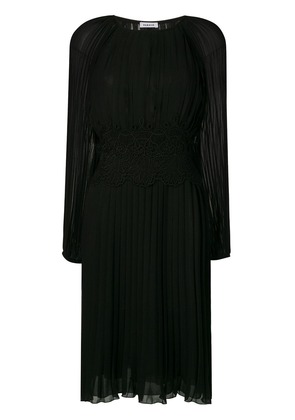 P.A.R.O.S.H. lace detail plated dress - Black