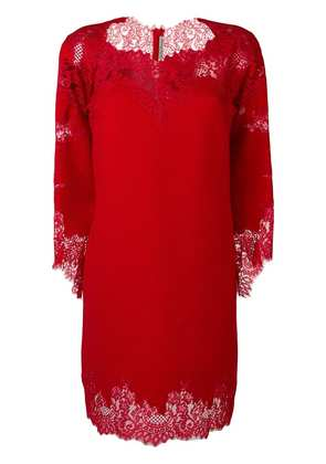 Ermanno Scervino lace detail dress - Red