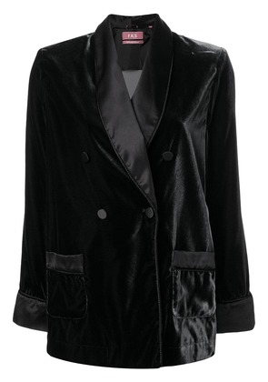 F.R.S For Restless Sleepers double breasted blazer - Black