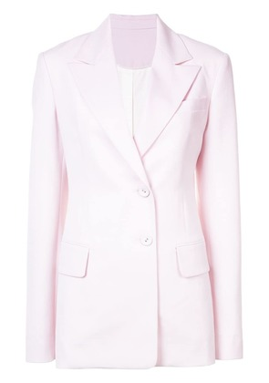 Proenza Schouler Single Breasted Wool Jacket - Pink & Purple