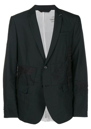 Diesel embroidered formal blazer - Black