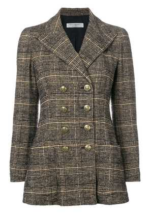 Philosophy Di Lorenzo Serafini checked double breasted blazer - Brown