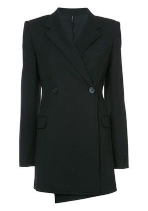 Helmut Lang deconstructed long blazer - Black