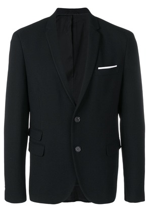 Neil Barrett pocket square blazer - Black