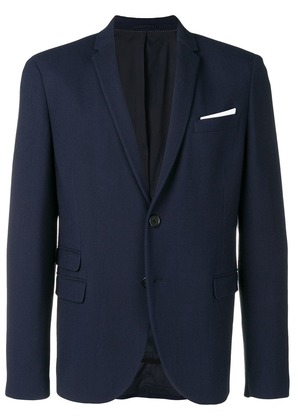 Neil Barrett pocket square blazer - Blue
