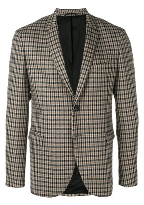 Neil Barrett checked blazer - Nude & Neutrals