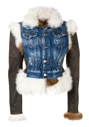 Dsquared2 quilted sleeve jacket - Brown