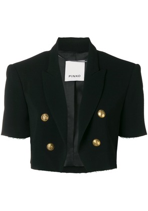 Pinko double breasted cropped jacket - Black