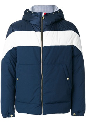 Moncler hooded bomber jacket - Blue