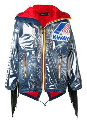 Dsquared2 K-way fringed jacket - Blue
