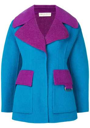 Emilio Pucci wide-lapeled jacket - Blue