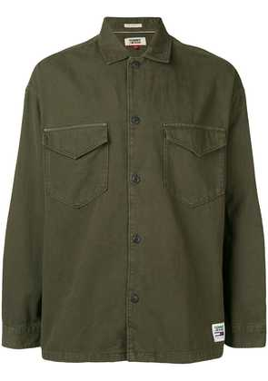 Tommy Jeans TJM twill overshirt - Green