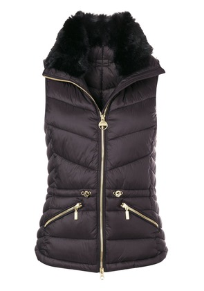 Barbour furry collar padded gilet - Blue