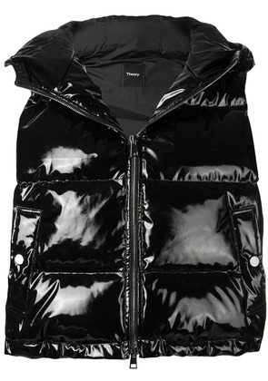 Theory vinyl-like padded gilet - Black