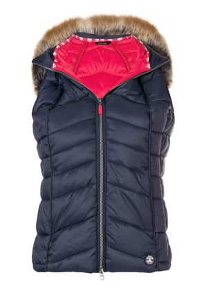 Barbour furry hood padded gilet - Blue