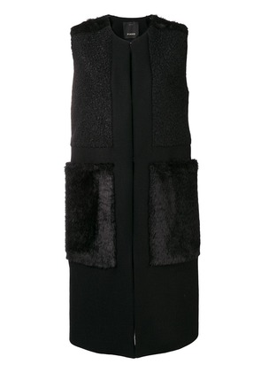 Pinko panelled sleeveless coat - Black