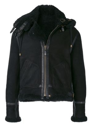 Faith Connexion zipped shearling jacket - Black