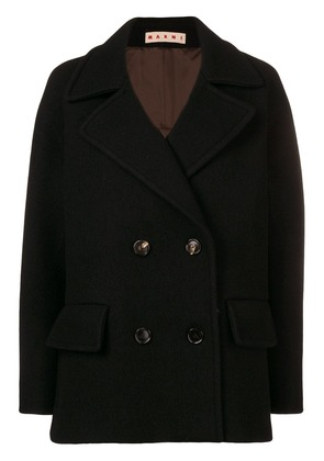 Marni short double-breasted jacket - Black