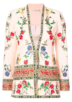 Alice+Olivia floral print jacket - Pink & Purple