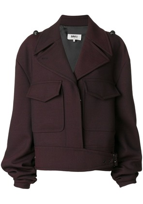 Mm6 Maison Margiela gathered sleeve jacket - Pink & Purple