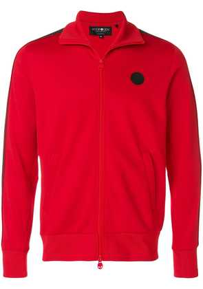 Hydrogen sports zipped bomber jacket - Red
