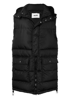 MSGM long length padded gilet - Black