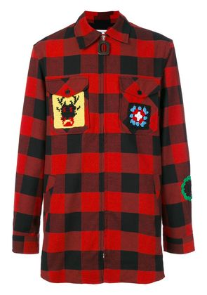 JW Anderson checked shirt - Red