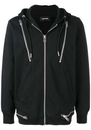 Diesel zipped hooded jacket - Black