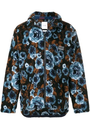 Napa By Martine Rose floral printed cardigan - Blue