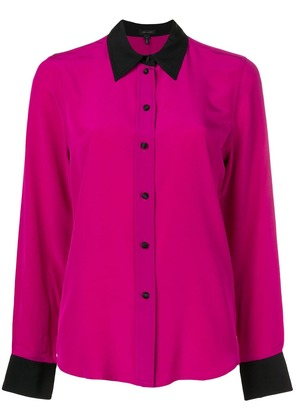 Marc Jacobs contrast-trim shirt - Pink & Purple