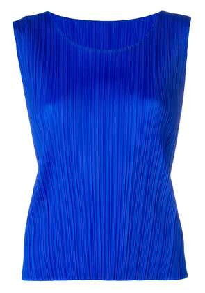 Pleats Please By Issey Miyake pleated tank top - Blue
