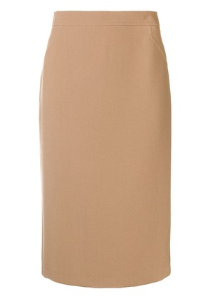 Roberto Collina fitted pencil skirt - Nude & Neutrals