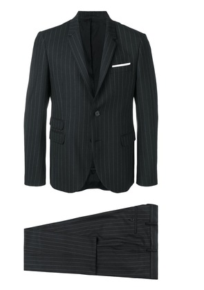 Neil Barrett striped two-piece suit - Black