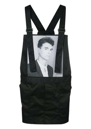 Raf Simons Robert Mapplethorpe photograph print apronsuit - Black