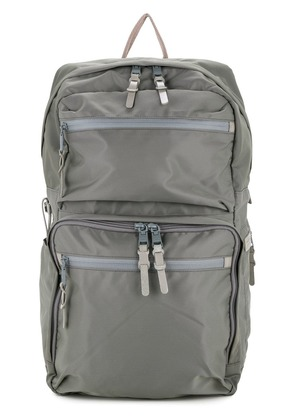 As2ov 210D nylon twill square backpack - Grey
