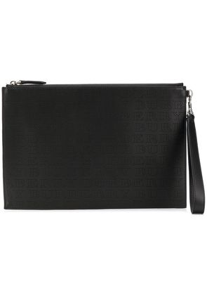 Burberry perforated logo zip pouch - Black