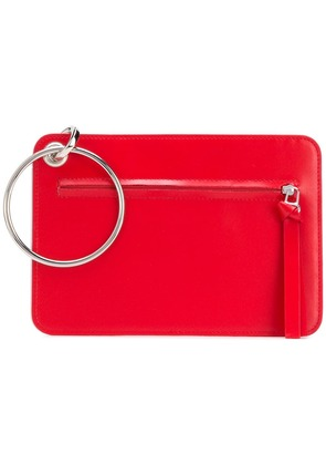 Mm6 Maison Margiela ring detail clutch - Red