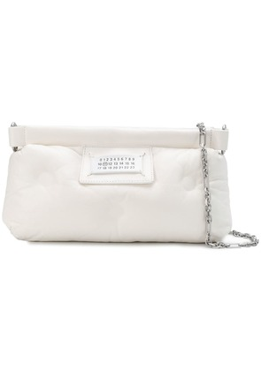 Maison Margiela number patch clutch - White