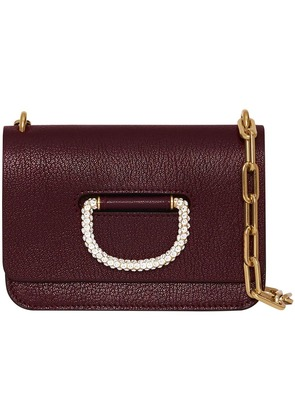 Burberry The Mini Leather Crystal D-ring Bag - Red