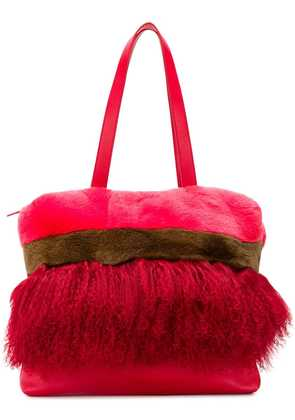 P.A.R.O.S.H. panelled tote - Red