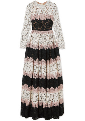 Valentino - Tiered Corded Lace Gown - Pink