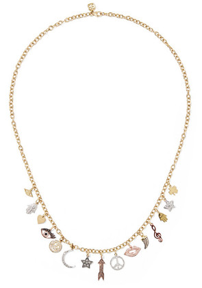 Sydney Evan - 14-karat Yellow, White And Rose Gold Diamond Necklace - one size
