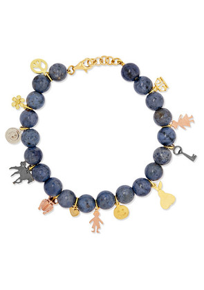 Carolina Bucci - Recharmed Lucky 18-karat Yellow, Rose And White Gold And Dumortierite Bracelet - one size