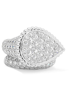Boucheron - Serpent Bohème 18-karat White Gold Diamond Ring - 54