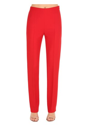 STRAIGHT LEG SILK & WOOL CADY PANTS