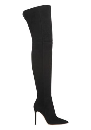 100MM SUEDE OVER-THE-KNEE-BOOTS