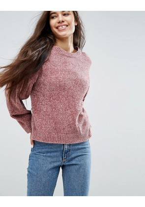 ASOS Jumper In Chenille With Wide Sleeves - Pink