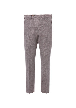 Birdseye Wool-blend Trousers