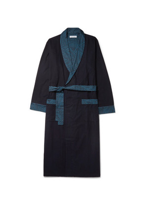 Brushed Cotton-jersey Robe